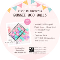 BUNNIE BOO BALL 7,5 CM Bola Mandi Plastik Mainan Anak Import