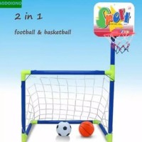 Mainan Anak Edukatif Bola Gawang 2 in 1 Basket - Football