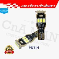 New Autovision Microzen LED T15 Putih Lampu Mundur Sein Sen Rem