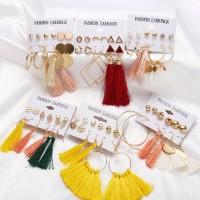 Fashion Simple 6pairs Tassel Anting Aksesoris Wanita Hooks Boho