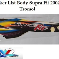 Sticker List Body Supra Fit Tromol 2004
