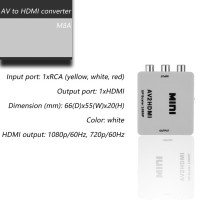 Mini RCA AV to HDMI Converter Adapter Composite AV2HDMI Converter
