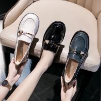 Sepatu Flat Shoes Model Korea Bahan Kulit Paten untuk Wanita
