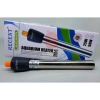 Water Heater Pemanas Air Aquarium Stainless Steel RECENT AA304 50 Watt