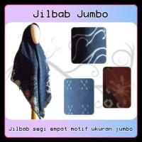 Hijab syari azurra / Jilbab segi empat jumbo motif / Kerudung muslimah