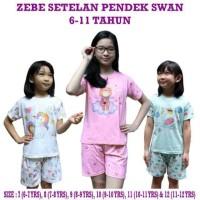 Piyama Anak / Kazel Zebe Setelan Pendek SWAN (6-12 tahun)