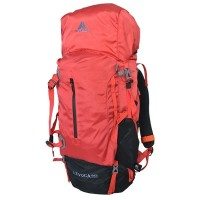 Tas Gunung Carrier Avtech Levuca 60L Merah + Raincover + Waistbag