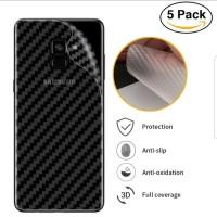 Samsung A8 2018 Anti Gores Belakang Skin Carbon Karbon Garskin