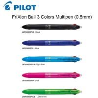 Pilot Frixion Pen 3 in 1 / Bolpen Pilot Frixion 3 warna - Biru Muda