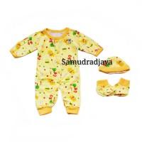 Baju set bayi newborn lahir jumper jumpsuit kodok panjang unisex