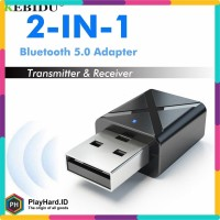 KEBIDU 2 in 1 USB Dongle HiFi Audio Bluetooth Transmitter & Receiver