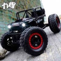 MOBIL RC JEEP OFF ROAD ROCK CRAWLER 4WD ALLOY BODY LED LAMP SKALA 1:14