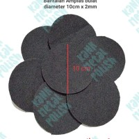 Busa Ati Bantalan Amplas bulat diameter 10 cm x 2 mm