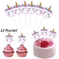Topper Kue Bentuk Unicorn untuk Dekorasi Pesta Ulang Tahun /