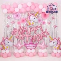 1 Set Balon Latex untuk Dekorasi Ulang Tahun Anak / Dewasa