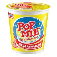 1 KARTON POP MIE MI INSTAN KARI AYAM CUP 75g ISI 24