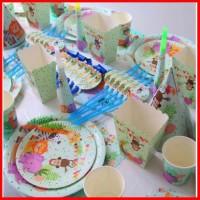 dekorasi pesta ulang tahun animal dessert tables