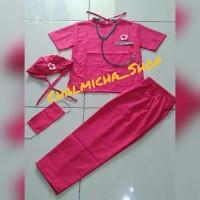 Baju Seragam Kostum Profesi Dokter Bedah Anak Pink Fanta
