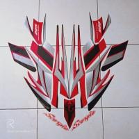 stiker striping motor yamaha scorpio 225 2004 hitam-merah