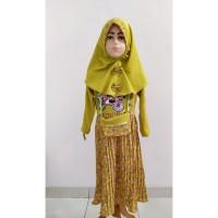 Gamis Anak Perempuan Baju Muslim Anak Cewek Plisket LOL LED Lampu - 8-9 tahun