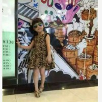 Dress anak perempuan motif leopard