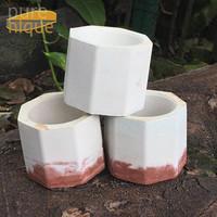 white red velvet pot mini unik