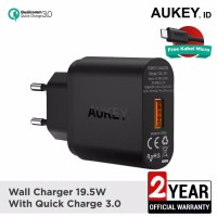 Aukey Wall Charger PA T9 With Quick Charge 3.0 Garansi Resmi 18 bulan
