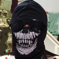 Masker Balaclava Full Face Mask Motif Tengkorak