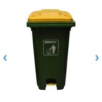 Tempat Sampah Pedal Outdoor Krisbow 240 Ltr - Hijau Kuning