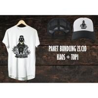 Kaos Distro Grafiti Bundling Topi Pria / Wanita - ZS.CLO - Original - S