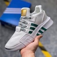"Sepatu Adidas Eqt Bask Adv "" White Green "" Putih Hijau Premium"