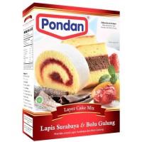 TEPUNG KUE PONDAN LAPIS SURABAYA BOLU GULUNG PREMIKS 400 GR LAYER CAKE