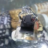cincin emas putih asli kadar 750 (23k) model soliter mata satu