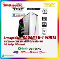 CASE Armageddon Kagami K-1 White Promo Gaming Murah