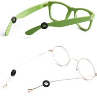 Karet Kacamata Penahan Telinga Ring Cincin Aksesoris Bulat Lembut Ring - Hitam