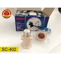 fitting kombinasi /fitting gantung lampu/ 2 colokan cabang SNI SC-402