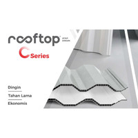 Atap uPVC Rooftop C-Series - 1 meter