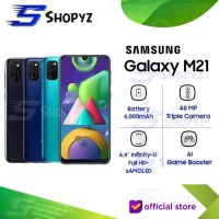 SAMSUNG GALAXY M21 - 6000mAh Battery 4GB 64GB 4/64 Garansi Resmi SEIN