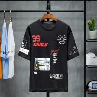 Kaos T-Shirt Pria Lengan Pendek Model Hip Hop untuk Musim Panas T1903