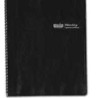 House of Doolittle 2016 Weekly Calendar Planner, Black Simulated Leath