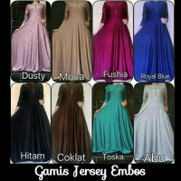 Jual Gamis Jersey Embos / Emboss Maxi Longdress Pesta / Baju Muslim
