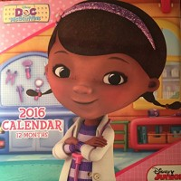 Doc McStuffins 2016 Square Wall Calendar (12 Months)