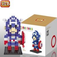 Mainan Koleksi Anak Bricks Loz Gift Medium 9159 Captain America -