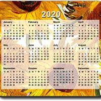 Van Gogh - Sunflowers II Mouse Pad - with 2016 Calendar