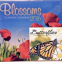 Blossoms 2016 12 Month Calendar with Miniature Calendar