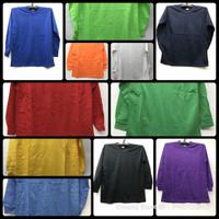 Kaos Polos Oblong PE Pria Wanita All Size Tangan Panjang
