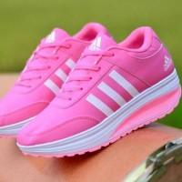 Terpopuler ! Laris Sepatu Wanita Adidas SDS275 Abu - Pink Fanta T3