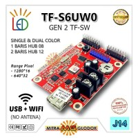 RUNNING TEXT CONTROLLER TF-S6UW0 (TF-SW) SINGLE COLOR | WIFI+USB - J14