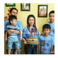 Kaos/Baju Couple ulang tahun AYAH IBU ANAK,SPIDERMAN,murah,gratis nama
