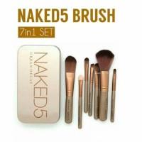 NAKED 5 BRUSH KALENG isi7 kuas makeup set MUA alat kecantikan kosmetik